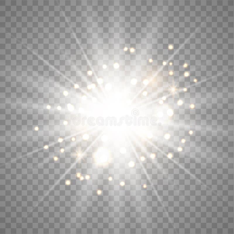 Lichteffekt des Wei?gl?hens vektor abbildung