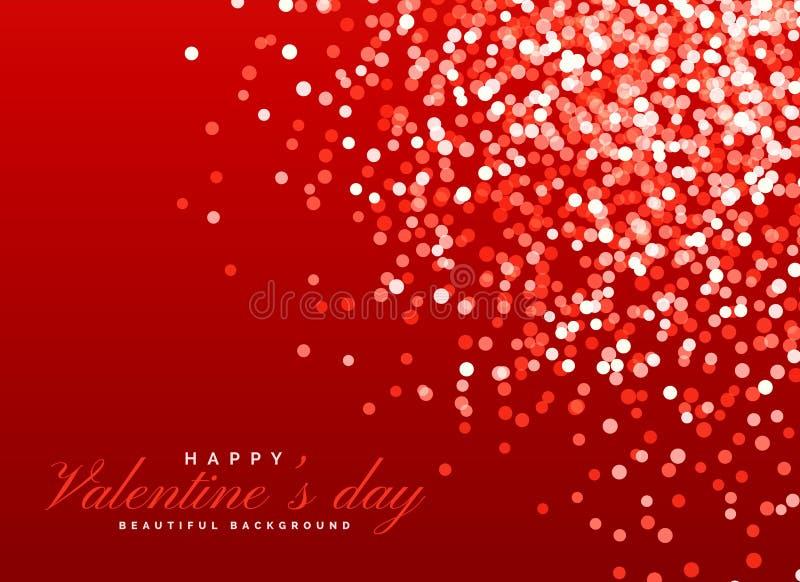 Lichteffekt roten Funkeln bokeh Hintergrundes für Valentinsgruß ` s Tag vektor abbildung
