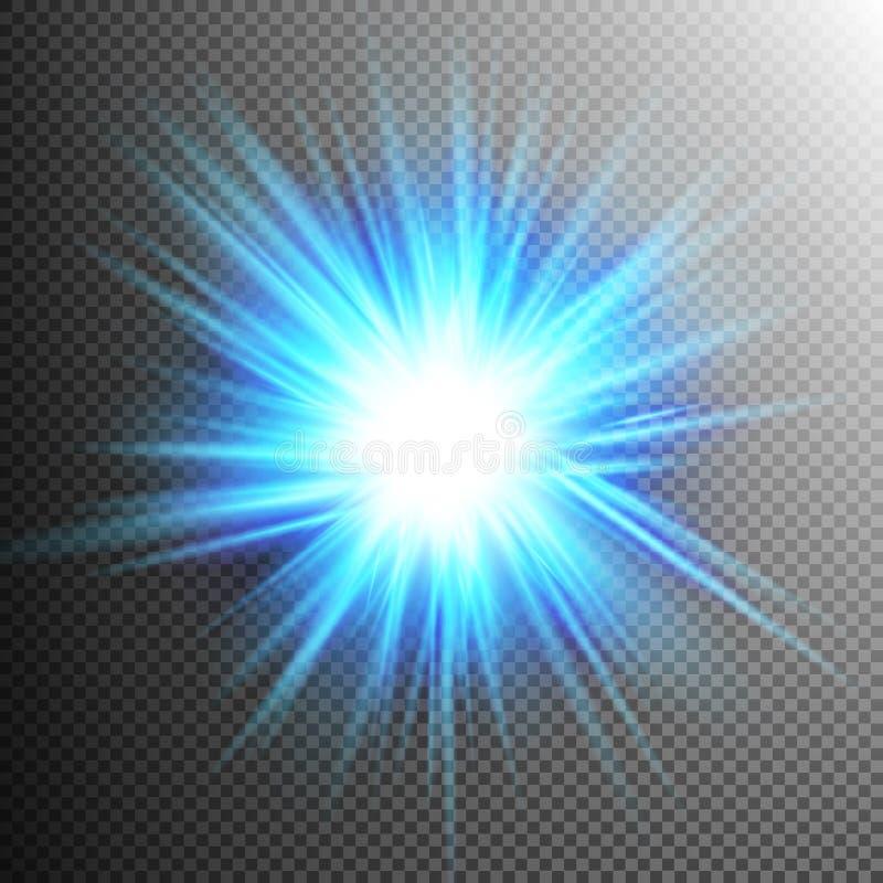 Lichteffekt-transparente Aufflackern-Lichter ENV 10 stock abbildung