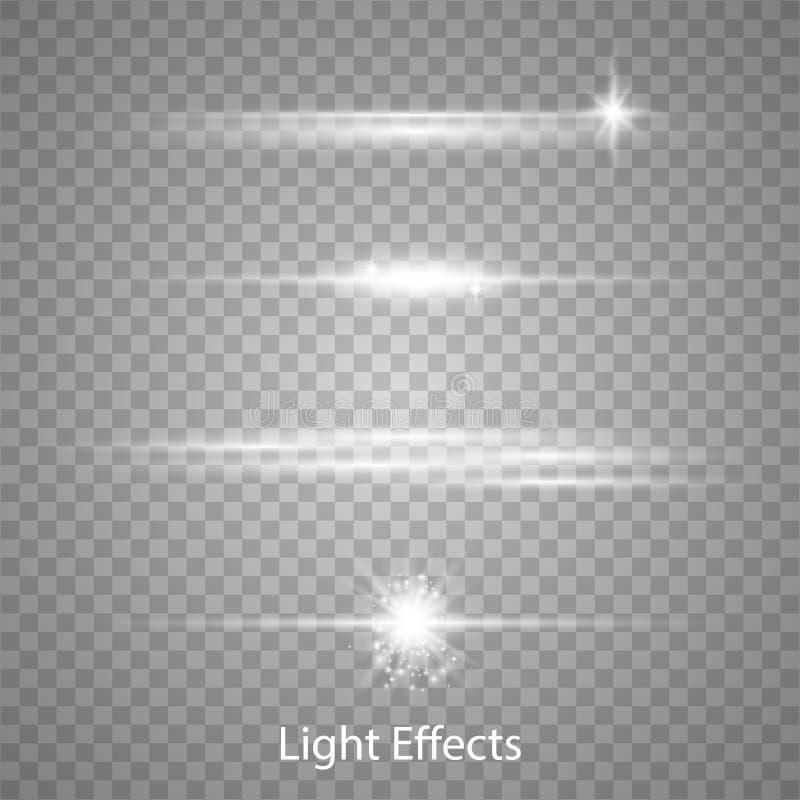 Lichteffekte des optischen Blendenflecks vektor abbildung