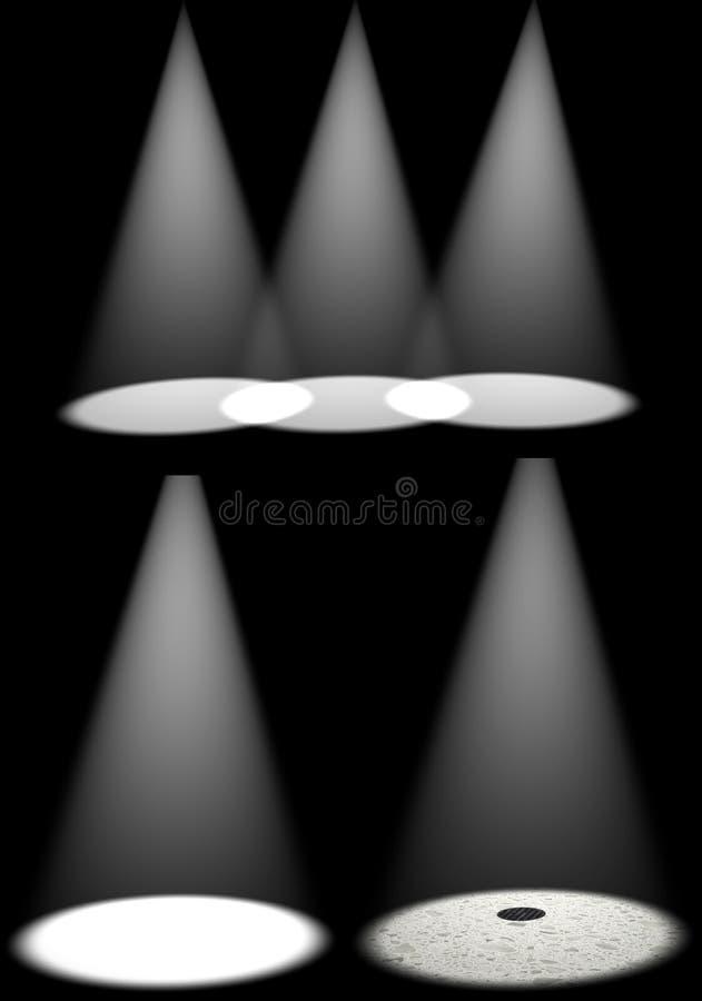 Lichten 2 royalty-vrije illustratie