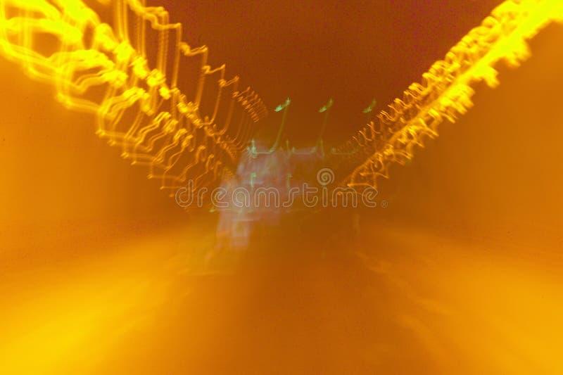 Lichten binnen tunnel, Nice, Frankrijk royalty-vrije stock afbeelding