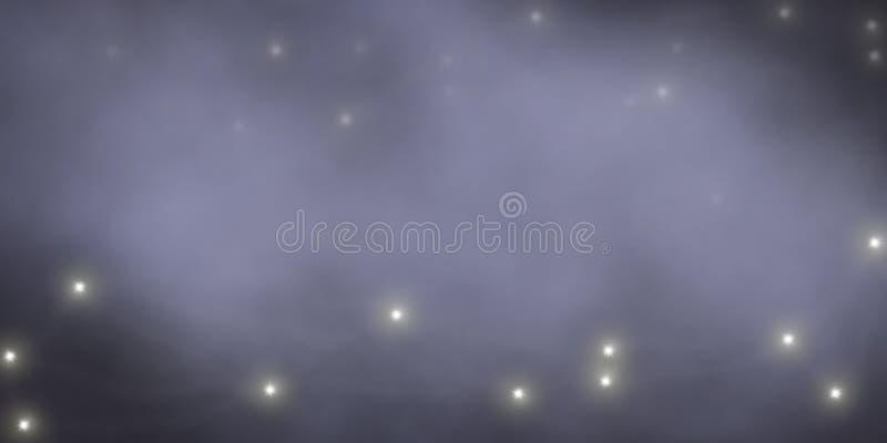 Lichten in de mist royalty-vrije stock afbeelding