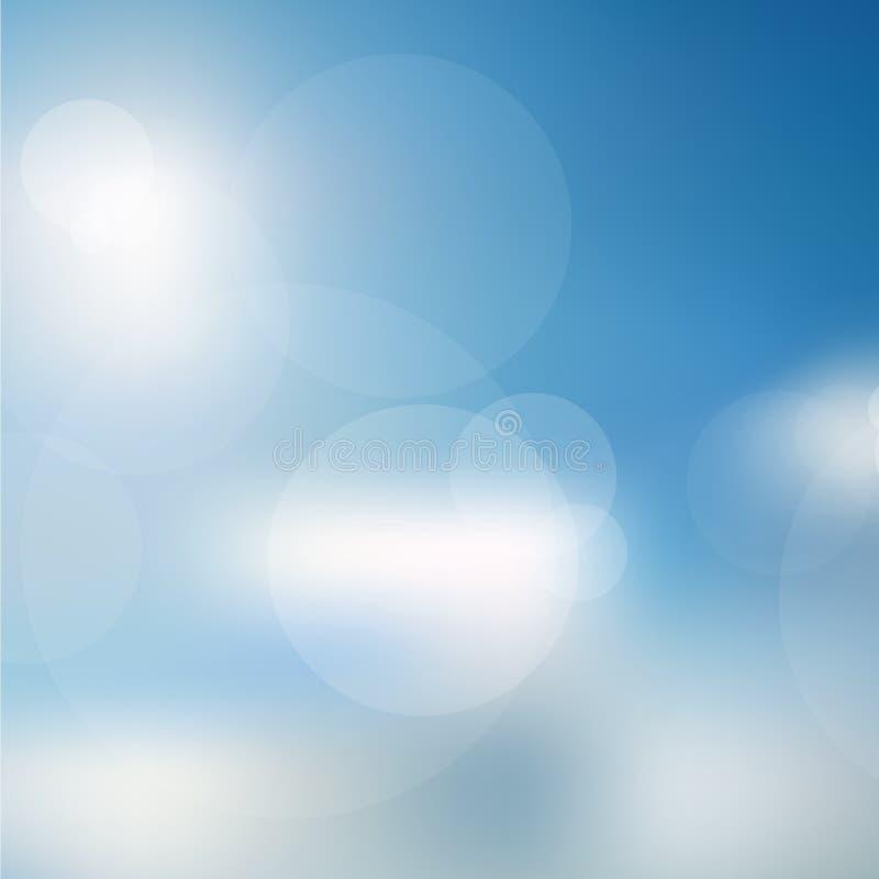 Lichten op blauwe textuur background vector illustratie