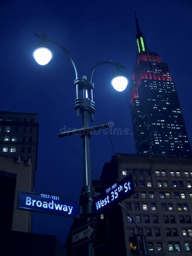 Lichten op Broadway stock fotografie