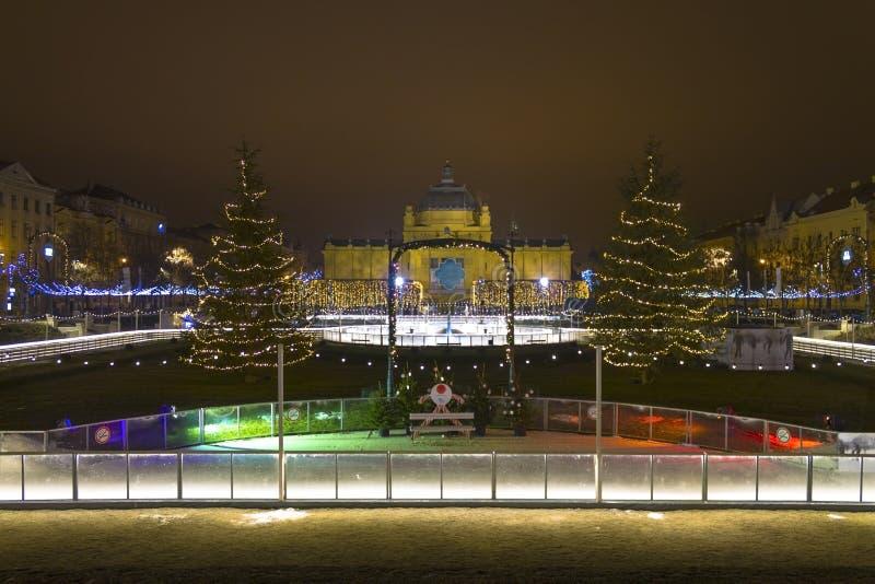 Lichten op een straat bij Komst royalty-vrije stock foto