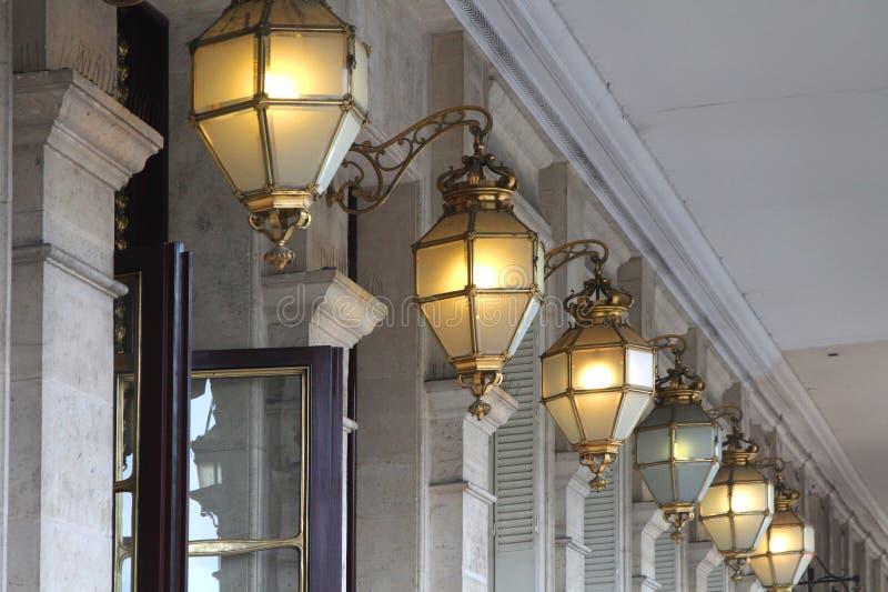 Lichten in Parijs royalty-vrije stock afbeelding