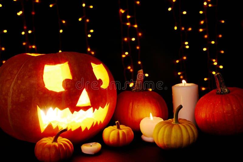 Lichten van Halloween stock afbeeldingen