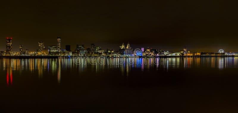 Lichten van Liverpool stock afbeelding