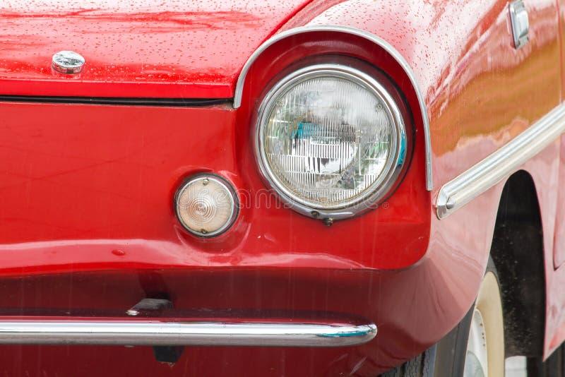 Lichten voor een uitstekende auto royalty-vrije stock foto's