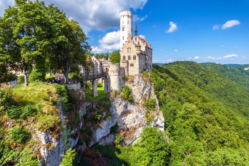Lichtenstein Castle in summer, Baden-Wurttemberg, Germany royalty free stock images