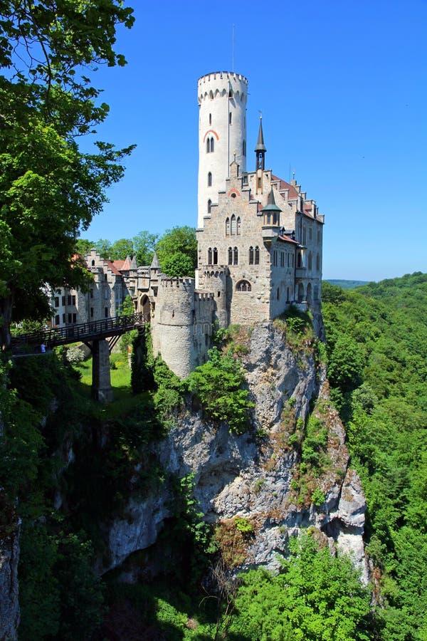 Lichtenstein kasztel w Baden-WÃ ¼ rttemberg obraz royalty free
