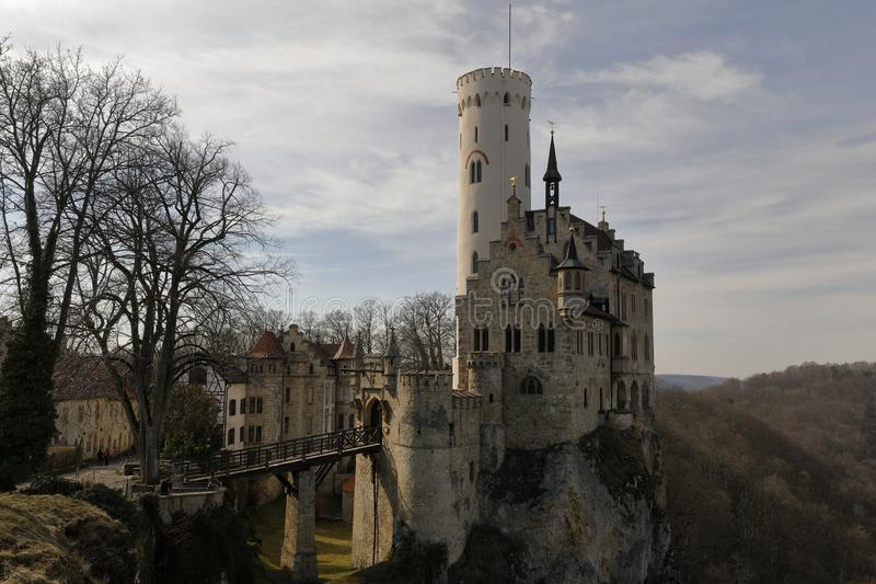 Lichtensteinkasteel in Duitsland stock afbeelding
