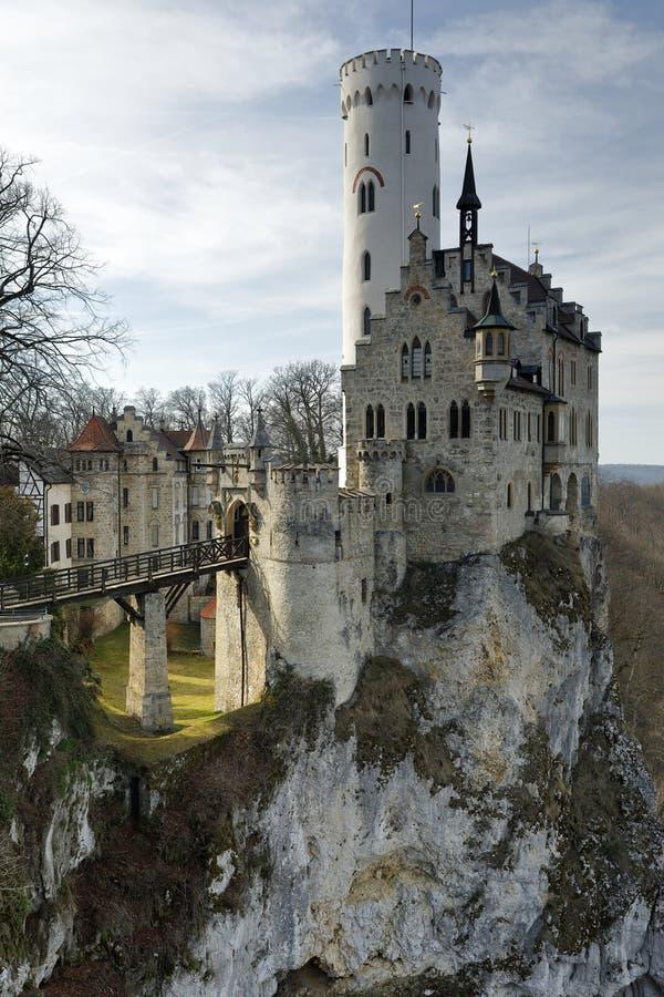 Lichtensteinkasteel in Duitsland stock foto