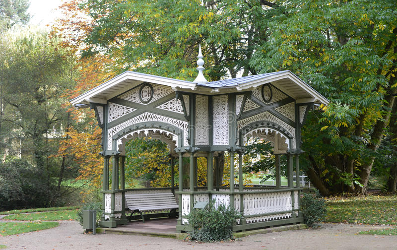 Lichtentaler Allee, Baden-Baden, Germany 01. Pavilions at the Lichtentaler Allee 02 stock photos