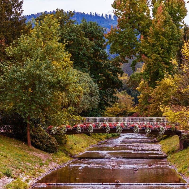 Lichtentaler Allee, Baden-Baden,. Famous Lichtentaler Allee, Baden-Baden, Germany stock photo