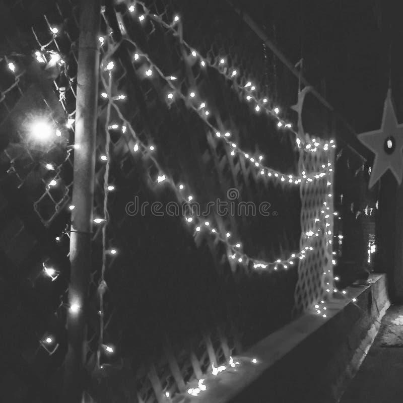 Lichter auf der Dachspitze lizenzfreies stockbild