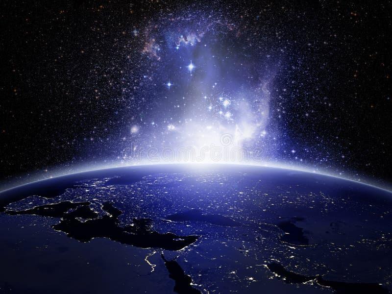 Lichter auf Erde vektor abbildung