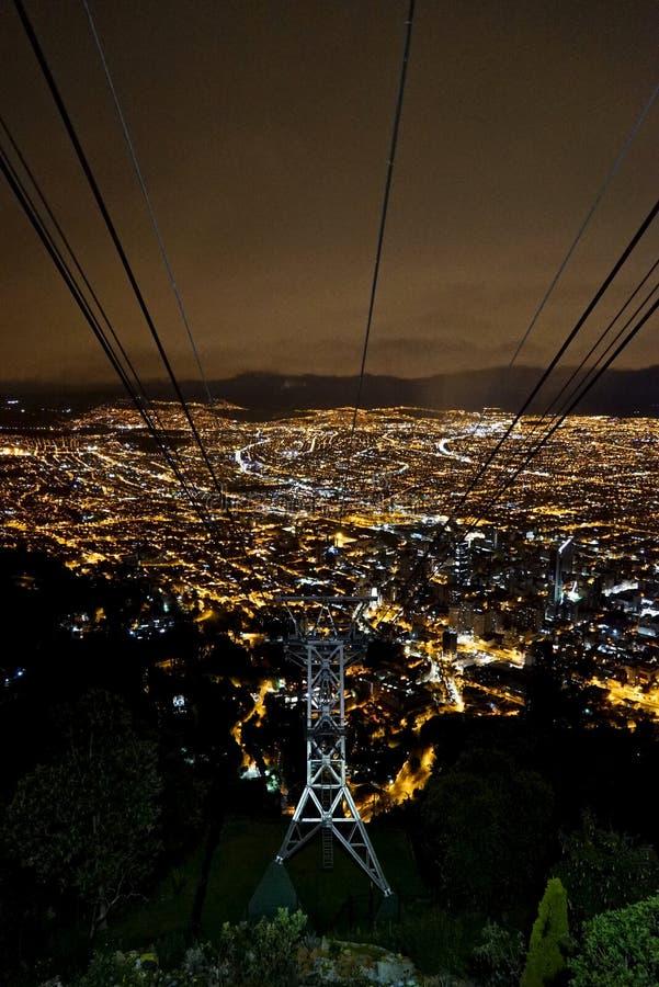 Lichter Bogotas Kolumbien lizenzfreie stockbilder