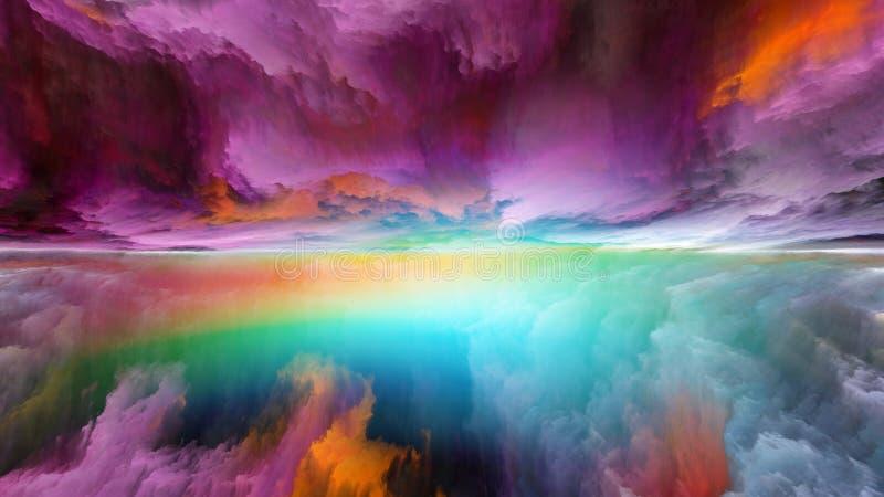 Lichter der abstrakten Landschaft lizenzfreie abbildung