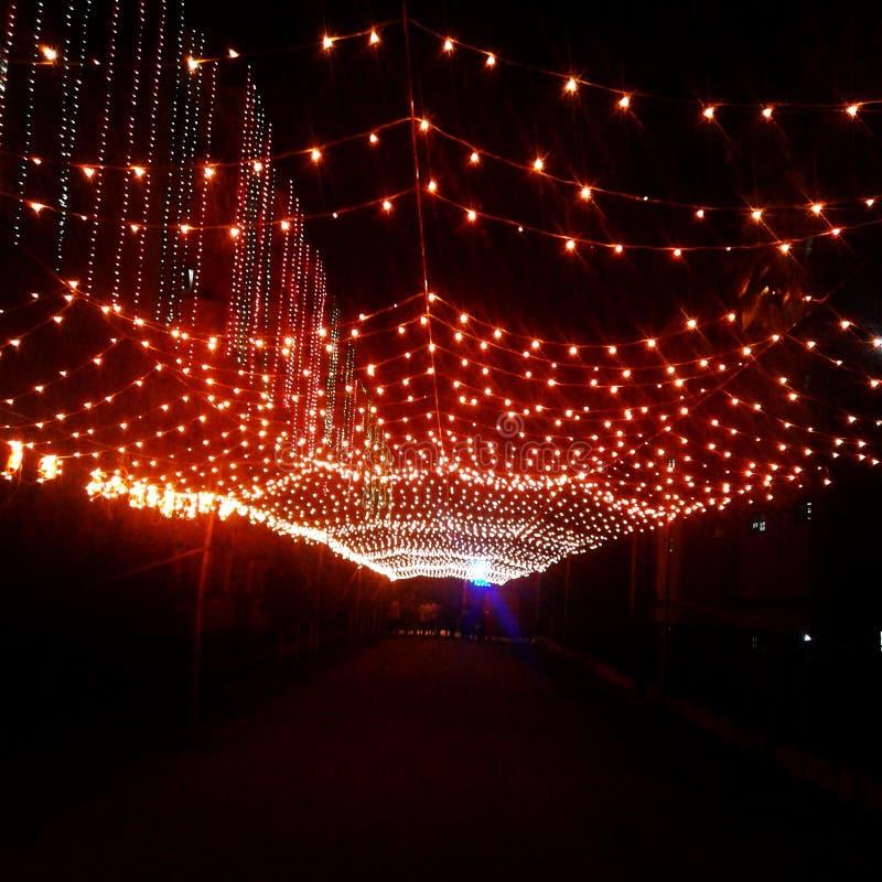Lichter führen Sie, schöne diwali Dekorationen lizenzfreie stockfotografie
