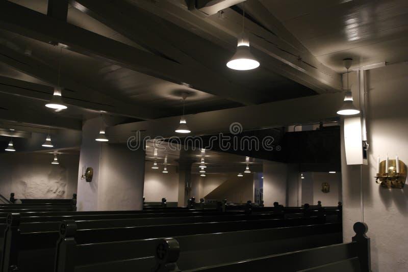 Lichter und Bänke lizenzfreie stockfotografie