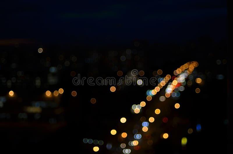 Lichter und Straße stockfoto