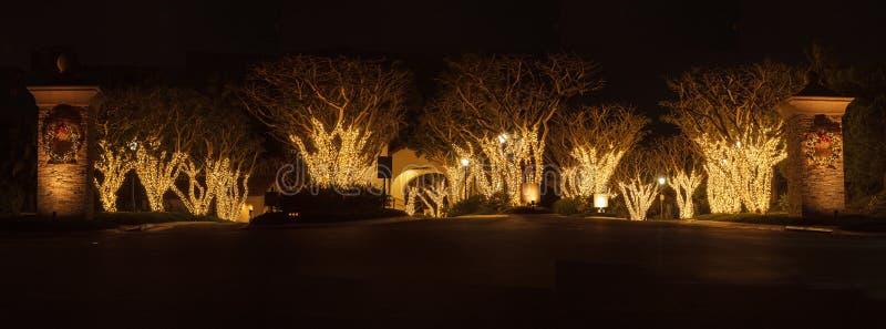 Lichterkette bei Crystal Cove lizenzfreies stockbild
