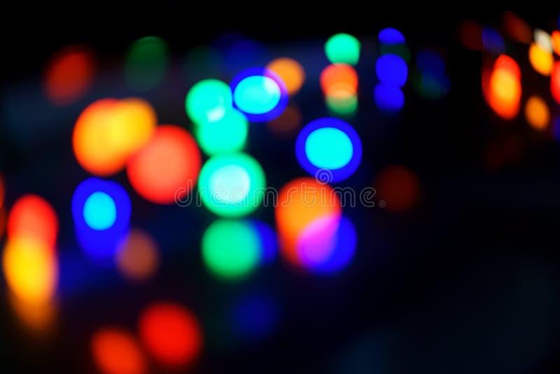 Lichterkette in bokeh Hintergrund lizenzfreie stockfotos