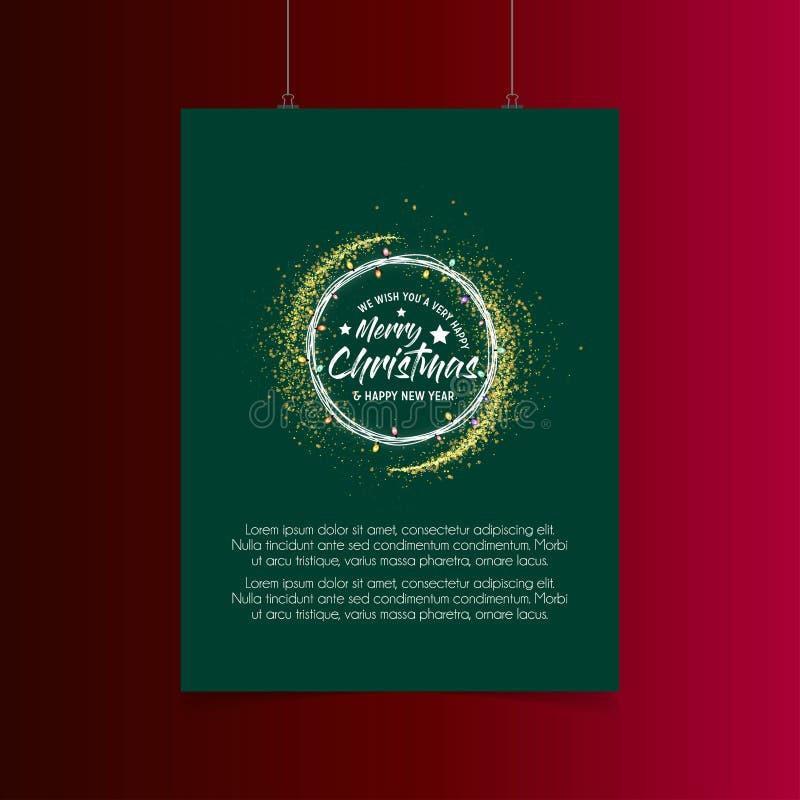 Lichtexplosionshintergrund der frohen Weihnachten vektor abbildung