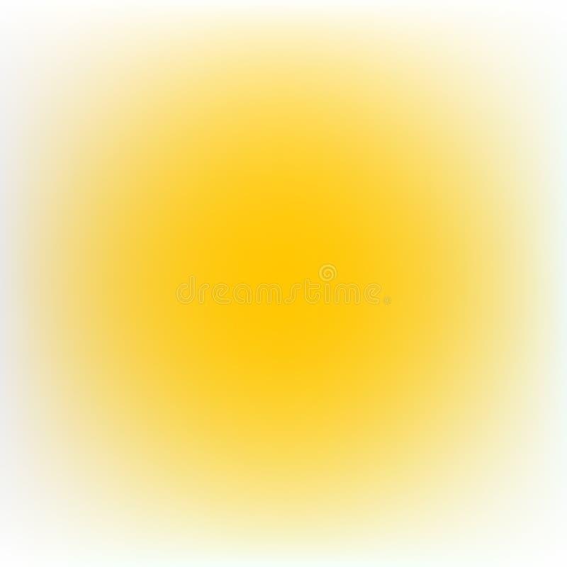 Lichtgele kleur, verwarde kleureneffect vage gele cirkel stock illustratie