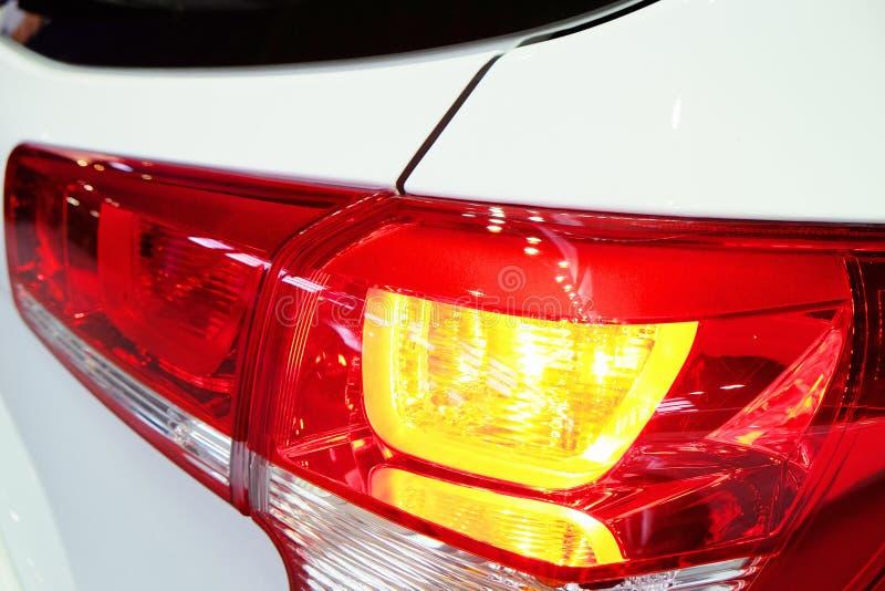 Lichtgevende achterlicht moderne auto royalty-vrije stock foto