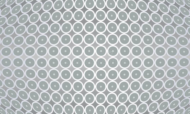 Lichtgrijze centrum georiënteerde textuur en tegel backgr stock illustratie
