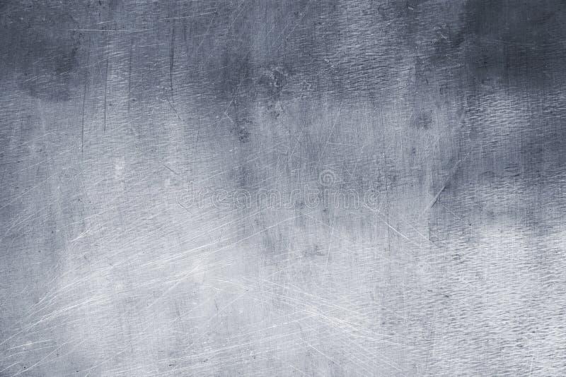 Lichtgrijze metaaltextuur, element van de achtergrond van de ijzerplaat stock foto
