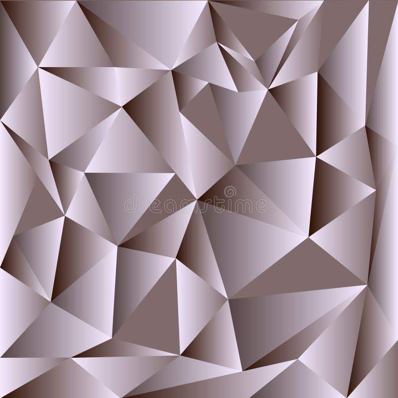 Lichtgrijze vector het glanzen driehoekige achtergrond Kleurrijke illustratie in abstracte stijl met driehoeken Driehoekig patroo stock illustratie