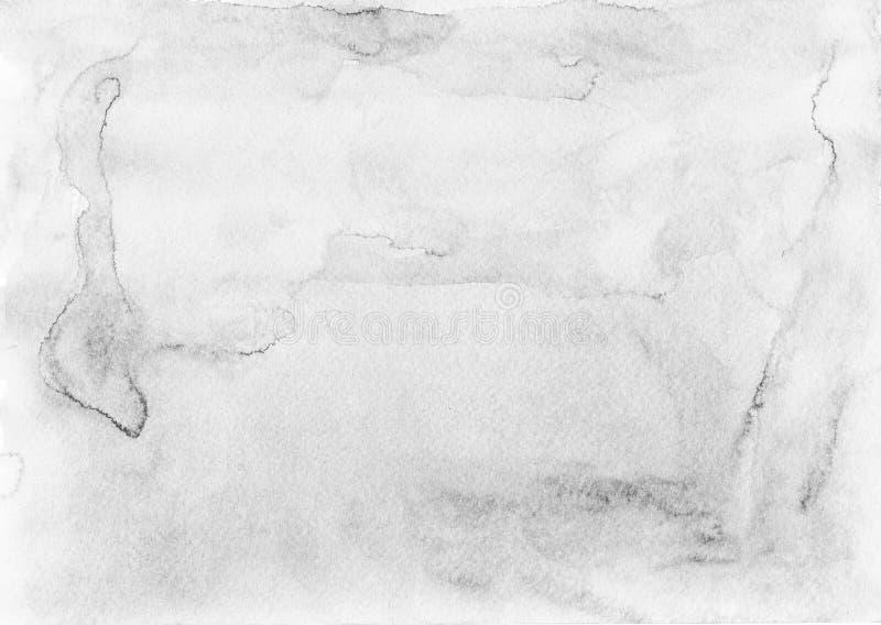 Lichtgrijze waterverfachtergrond - document textuur stock afbeeldingen