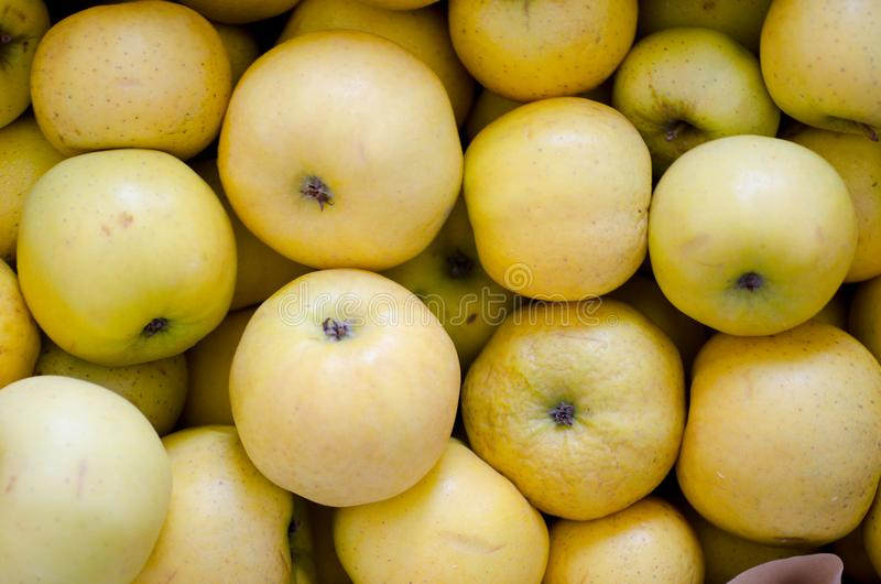 Lichtgroene appelen stock foto's