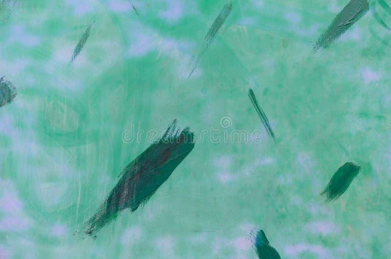 Lichtgroene geschilderde oppervlakte met vlekken van donkergroene verf op t stock afbeeldingen
