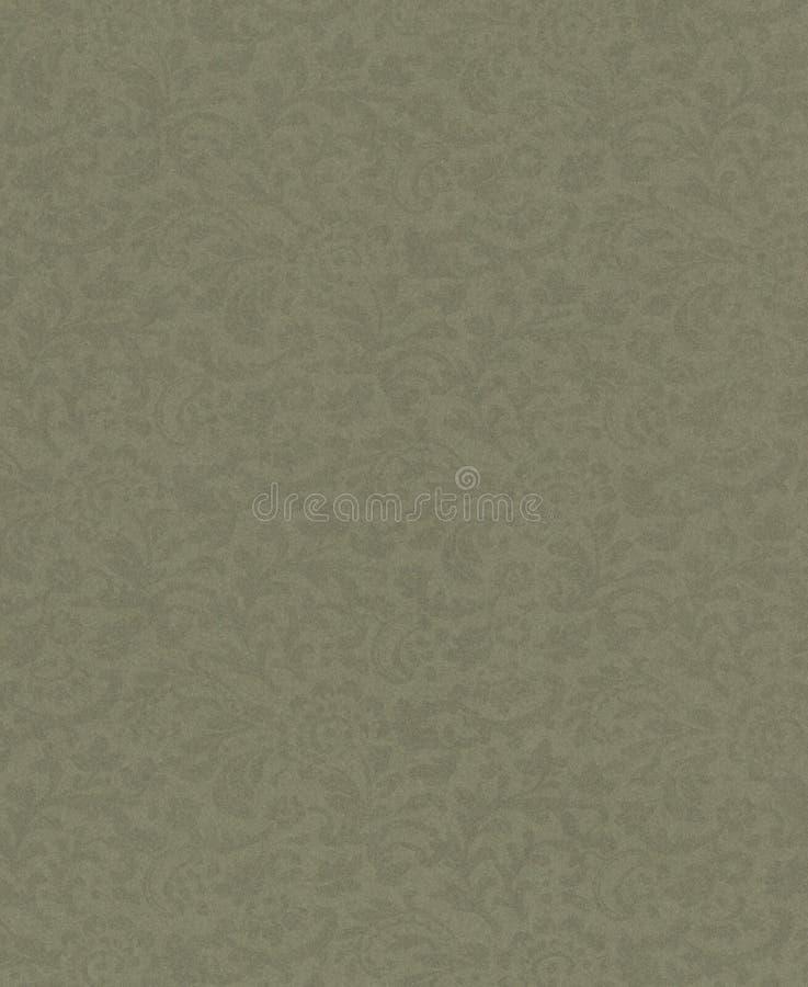 Lichtgroene kleur van het achtergrond de kleine bloemeninstallatieornament om het even welk van uw tekst Oud document vector illustratie