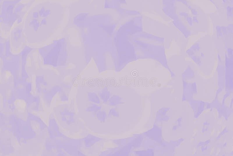 Lichtpaarse violette kleurenachtergrond met gevoelig tulpen bloemenpatroon stock illustratie