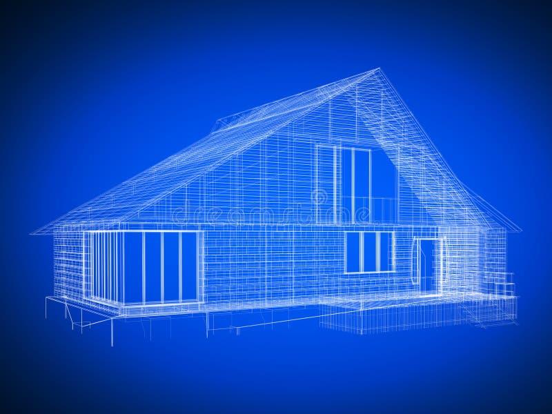 Lichtpausehaus stock abbildung