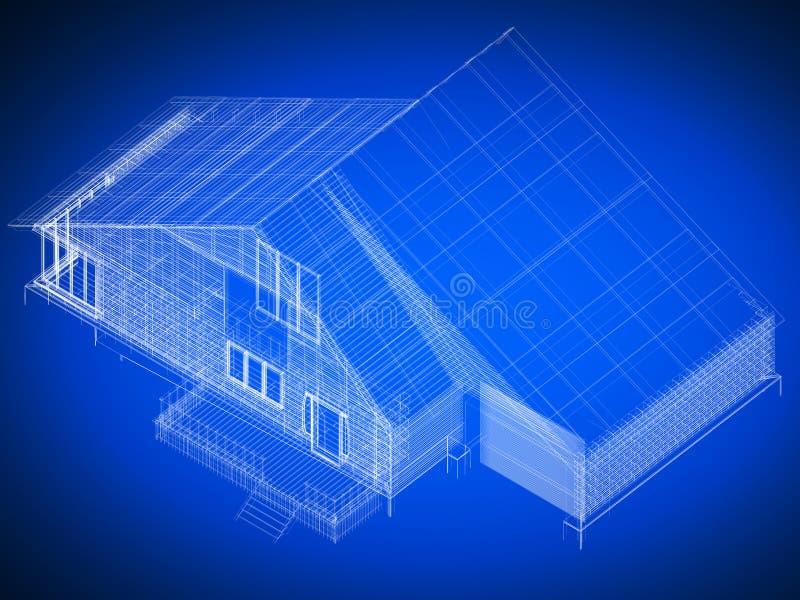 Lichtpausehaus lizenzfreie abbildung