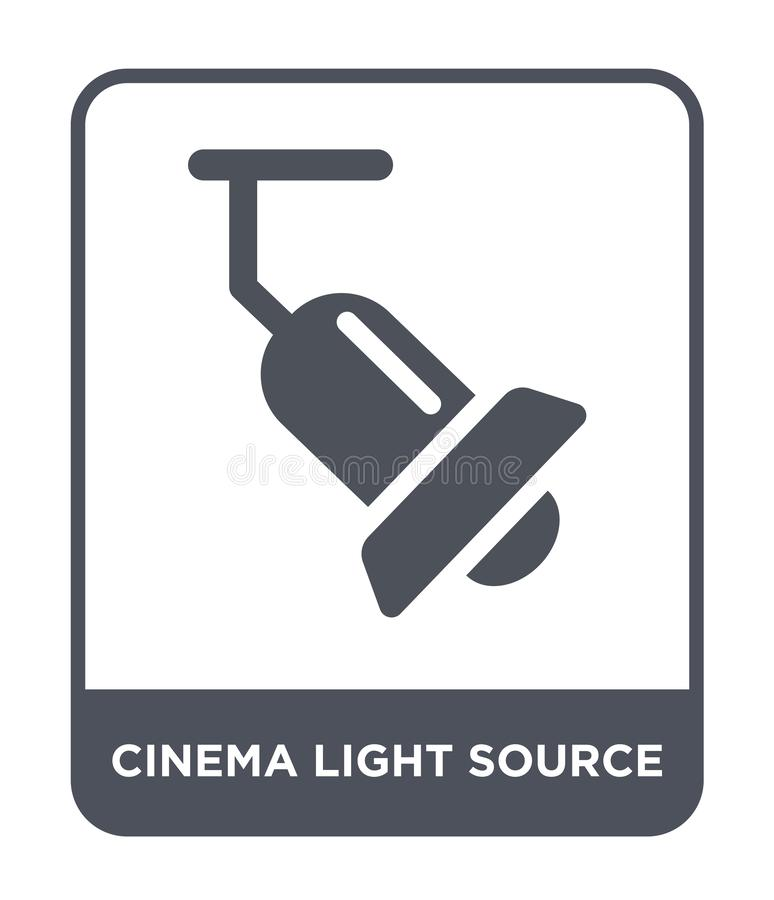 Lichtquelleikone des Kinos in der modischen Entwurfsart Lichtquelleikone des Kinos lokalisiert auf weißem Hintergrund Lichtquelle vektor abbildung