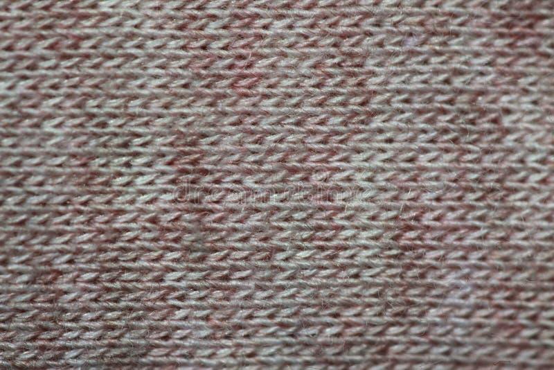 Lichtrose en grijs katoenen weefsel stock afbeelding