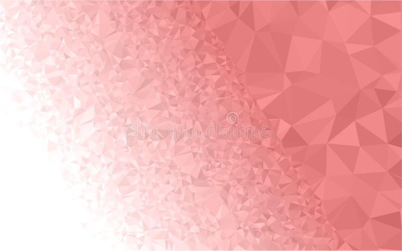 Lichtrose veelhoekige illustratie, wat uit driehoeken bestaan Driehoekig ontwerp voor uw zaken royalty-vrije illustratie