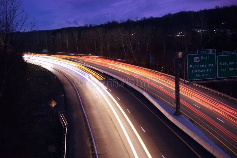 Lichtspuren in PA stockfotos