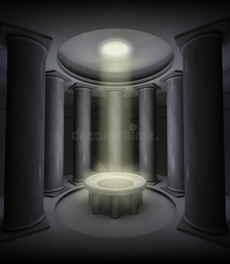 Lichtstraal royalty-vrije illustratie