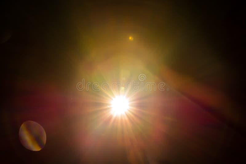 Lichtstraal in dark royalty-vrije stock afbeelding