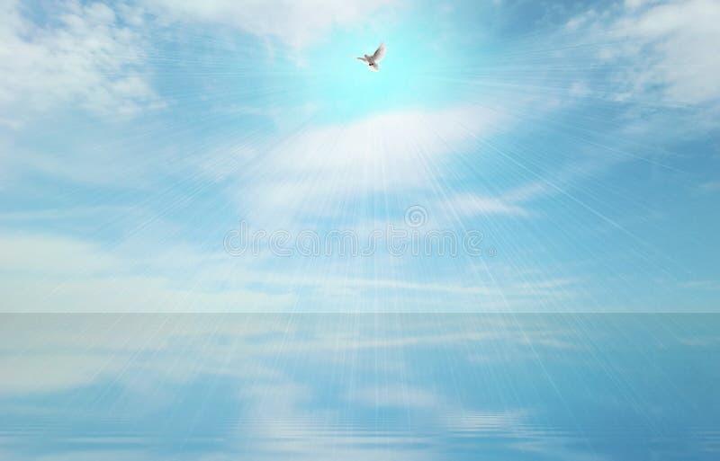 Lichtstraal en heilige geest royalty-vrije stock foto
