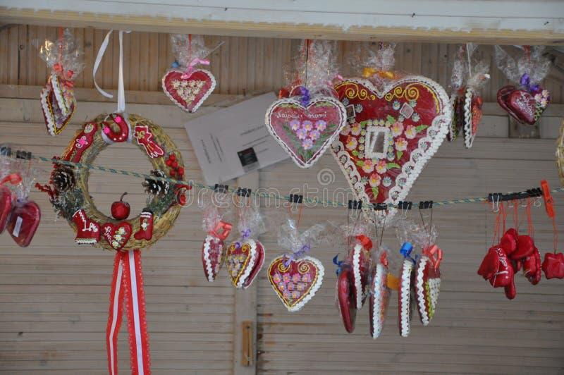 Licitar hearts- Croatian traditional sweet warm hearts royalty free stock image